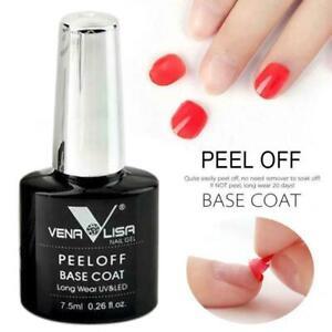 VENALISA Easy PEEL OFF BASE COAT DIAMOND UV LED GEL NAIL POLISH Long Wear UK