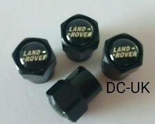 LAND ROVER Black Wheel Tyre Valve Dust Caps for Sport Discovery Freelander