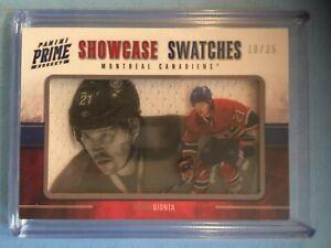 BRIAN GIONTA 2012-13 Panini PRIME Hockey SHOWCASE SWATCHES #46 s/n'ed #/25 GUJ