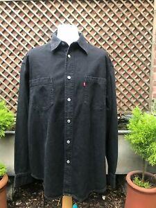 Original Levi's Levi black denim red tab shirt size XL +