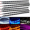 4/8 Pcs 30cm 15 SMD 3528 LED Flexible Strip Blue Light Car Lamp Waterproof 12V