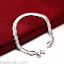 Damen Armband  925 Sterlingsilber plt.geflochten 20cm Silber Kette Schmuck (S4)