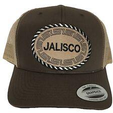 JALISCO  MEXICO BASEBALL HAT BROWN  KHAKI MESH TRUCKER  SNAP BACK ADJUSTABLE