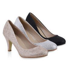 Klassische Damen Pumps Glitzer Party Strass Abend 811379 Schuhe