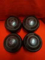 Thomas Taylor Lignoid Lawn Bowls Size 4 Set of Four Made In Scotland Flat Green