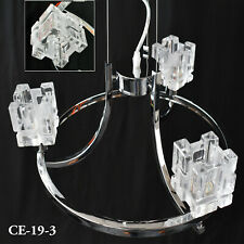 Beautiful Modern 3 way Crystal Chrome Ceiling Light For Bed/Living Room Lounge
