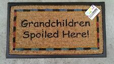 """Grandchildren spoiled here"" - Natural Coir, Recycled Rubber Backed Door Mat"
