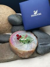 Color Red/green Holly Berry Leaf Swarovski Crystal Figurine Christmas Ornaments