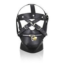 Bondage Head museau Zip Gear capuche masque fetish restraint Harness Gimp Kinky Set
