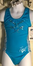 Laurie Hernandez Gk Tank Child Medium Atlantic Chill Blue Spanglez Gymnastics Cm