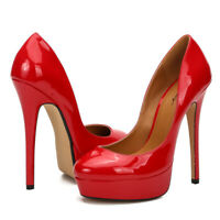 Drag Queen Men's High Heels Platform Crossdresser Stiletto Plus Size Women Shoes