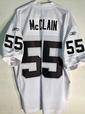 Reebok Authentic NFL Jersey Raiders Rocando McClain White sz 48