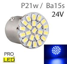 1 ampoule à LED smd  P21w / BA15s   24V Volt Bleu  pour Camion  Poids lourd