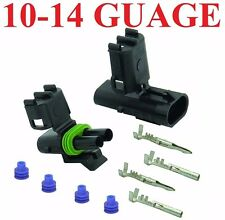 10-12-14 AWG Guage 2 Pin Position Terminal Weather Pack WeatherPack Connector