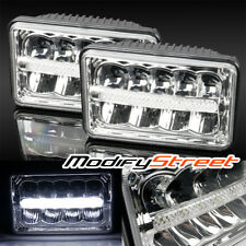 4X6 H4651/H4652/H4656/H4666 50W LED CHROME SEALED BEAM HEADLIGHTS REPLACEMENT