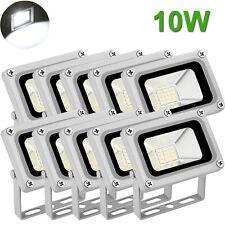 10X 10W LED Flood Light Outdoor Garden Landscape Lamp Waterproof Cool White 12V