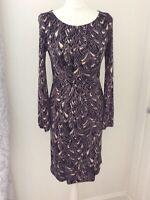 LK Bennett Size UK 8 Stretch Pencil Sheath Dress Autumn Winter Smart Formal