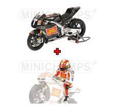 1:12 Minichamps Honda RC 212V Test + Figure Marco Simoncelli Wheelie 2011 NEW