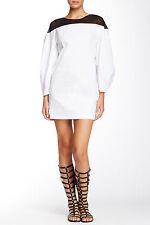 $576 NWT ROBERT RODRIGUEZ ILLUSION Sheath White Black Dress,sz.4/S