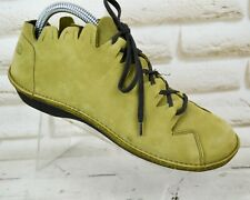 LOINTS Of HOLLAND Womens Olive Green Leather Casual Shoes LaceUp Size 3 UK 36 EU