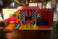 Vintage 1968 Mattel Barbie doll Family House case & furniture - Great Condition