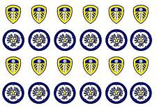 """24 x (38mm) 1.5"""" Leeds United PRE CUT Edible Wafer Paper Cupcake Toppers"""