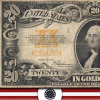 1922 $20 GOLD CERTIFICATE Fr 1187  K13086287