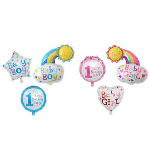 3 Pcs Foil Balloon 18 Inch Boy or Girl New Born Baby Gender Reveal Baby Showe KI