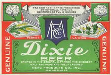 Merz Brewing Dixie Beer Label T Shirt New Orleans La Small-Xxxlarge (F)