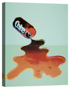 Andy Warhol New Coke Stampa su tela Canvas effetto dipinto
