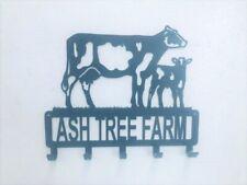 More details for dairy cow calf fam key holder / coathook metal laser cut