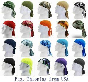 Durag Du-rag Headwear Head Wrap Skull Cap Doo Do Rag Bandana Headband Beanie Hat