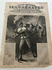 1868 Frank Leslie's Print The Boys In Blue Grant Colfax Campaign Parade #103019