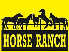 Horse Ranch - Sign- #Ps-487/88.Large