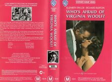 WHO'S AFRAID OF VIRGINIA WOOLF? -VHS - PAL-NEW-Never played!-Original Oz release