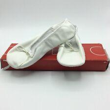 Capezio Womens Ballet Dance Shoes White Bow Elastic Strap Leather 3 M