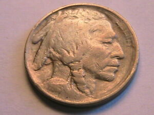 1913-P Type 1 Buffalo Nickel Sharp Fine (F) Grey Tone Indian Head 5C USA Coin