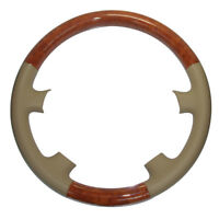 Tan Leather Wood Steering Wheel Cover Trim for 03-09 4Runner Sequoia GS LX470