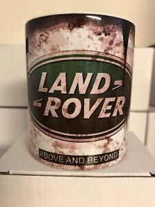 Oil Can Mug Land Rover Car Coffee Tea Gift Retro 11oz Cup