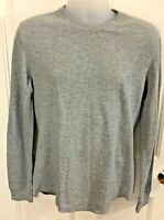 Vince Grey Slub Cotton Waffle Knit Thermal Shirt Medium Long Sleeve mr777-8168