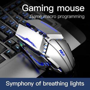 Gaming Mouse 7 Keys DPI Adjustable Led Light Wired PC Computer Laptop For Gamer