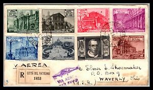 GP GOLDPATH: VATICAN COVER 1917 REGISTERED LETTER AIR MAIL _CV561_P19