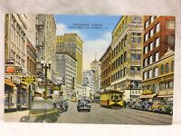 Vintage Postcard Telegraph Avenue Oakland California Unused