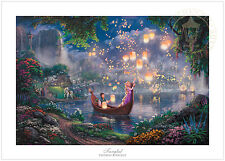Thomas Kinkade Tangled 12 x 18 S/N Limited Edition Paper - Disney LE Paper