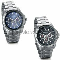 Classic Business Men's Luxury Sport Stainless Steel Analog Quartz Wrist Watch