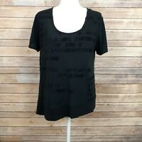 We The Free Womens Tshirt Short Sleeve Black Quote Graphic Print Size Small