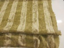 "Stunning Striped ""Bread Colour"" 100% Cotton Velvet fabric."