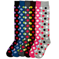 4 Pairs Women Comfort Socks Girls Plain Black Solid Long Knee High Pack US 9 11
