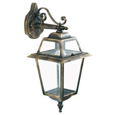 New Orleans Cast Aluminium Hanging Outdoor Wall Light Lamp Black/gold Finish New