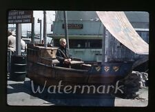 1950s kodak kodachrome  Photo slide   Wharf  Monterey CA boy with camera